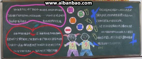 小学生黑板报图案设计图片