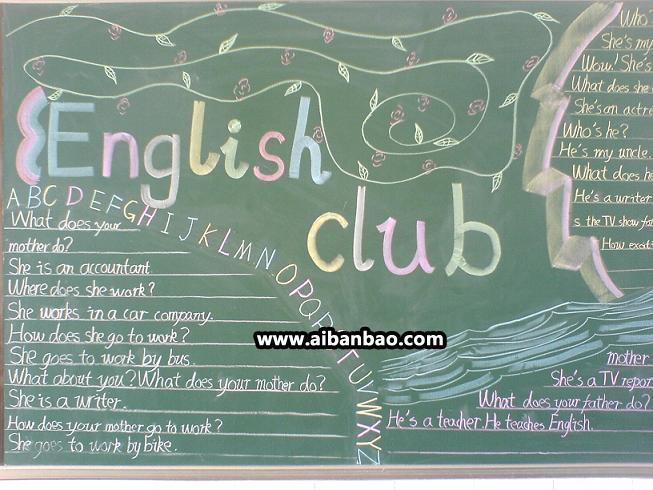 英语对话内容黑板报