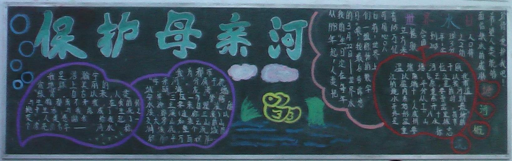 加强学生环保意识黑板报
