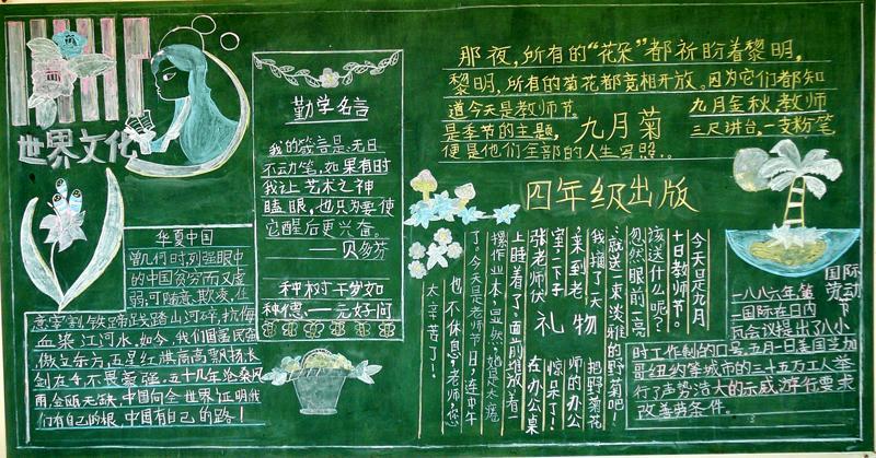 华夏中国黑板报