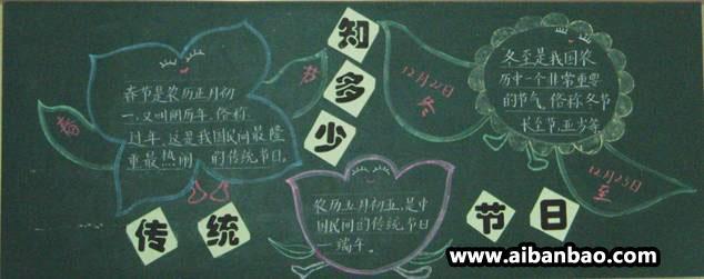 黑板报漂亮花边设计图案