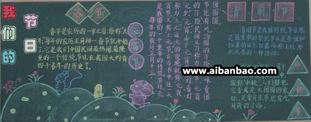 属于中国的节日黑板报