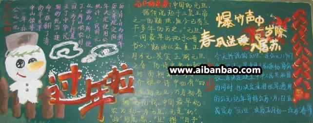 年新年黑板报_新年开学黑板报_新年黑板报内容_新  幼儿园开学小黑板